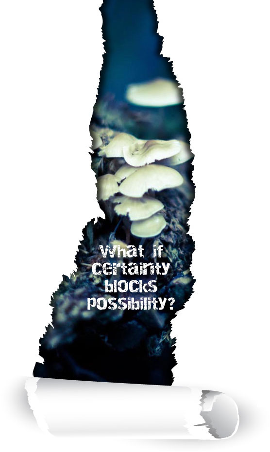 What if certainty blocks possibility?